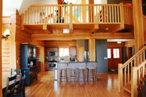 luxury log cabin kitchen