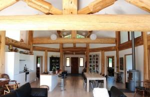 timber frame home interior