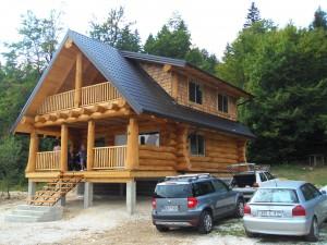traditional log home