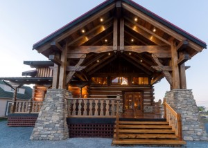 luxurious log cabin