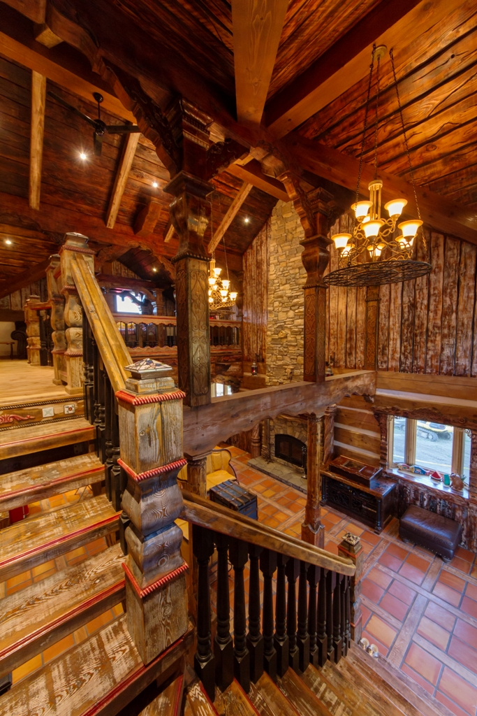 rustic log home interior
