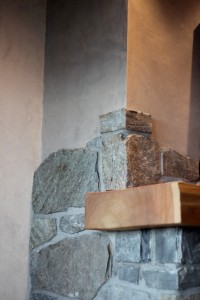 the finer details on a fireplace