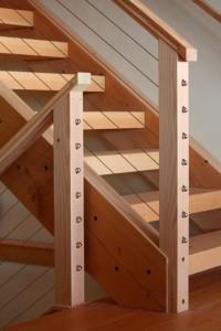 modern wood stairwell