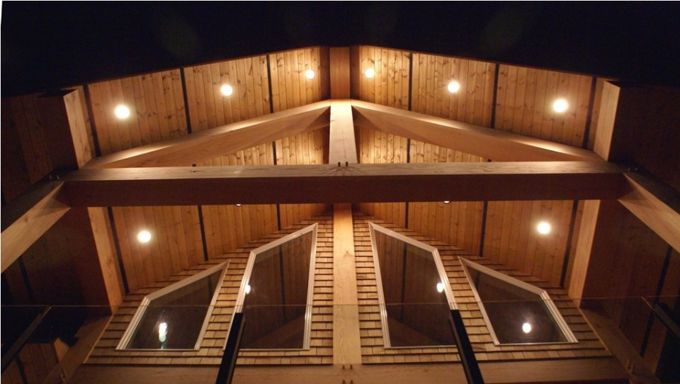 timber frame home lighting