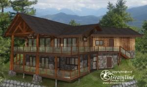 Pender Harbour Timber Frame Home by Streamline Design