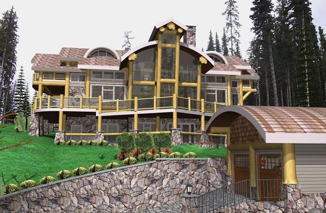 Bella Vista Log Home Plans