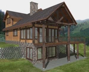 Black Water Custom Timber Frame Plan