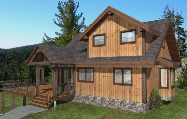 Black Water Custom Timber Frame Plan