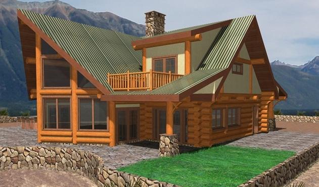 Bratton Valley Log Home Plans