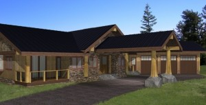 Coastal Black Custom Timber Frame Plans