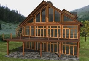 Davis Bay Log Home Plans