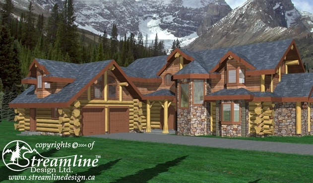 Eagles Nest Log Home Plans