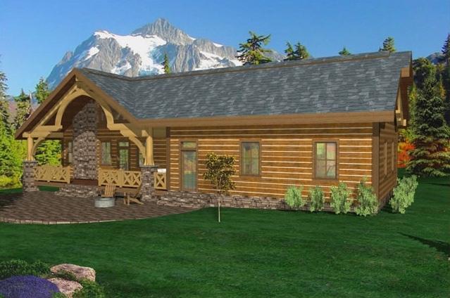 Foothills Timber Frame Plan