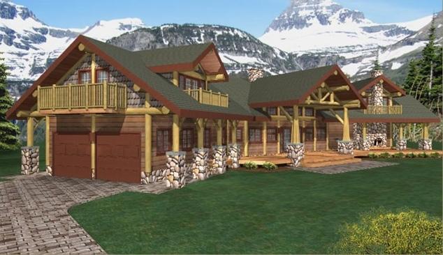 Garibaldi Log Home Plans