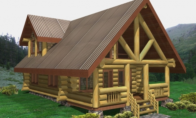 Gingolx Log Home Plans