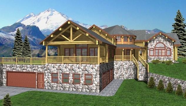 Grand Rapids Log Home Plans
