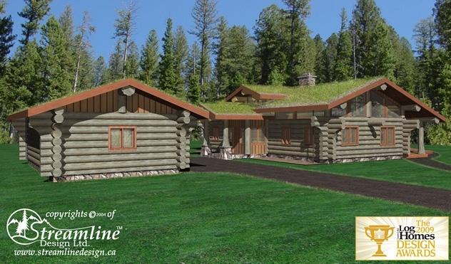 Greenville Log Home Plans