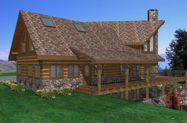 Highland Ranch Timber Frame House