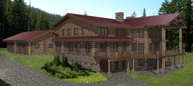 Jollymore Log Home Plans