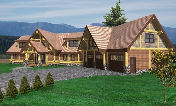 Longhorn Log Home Plans