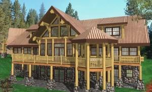 Longhorn Log Home Plans