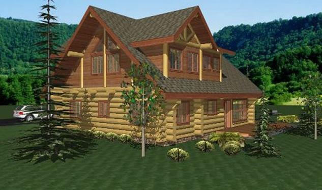 Newberry Log Home Plans