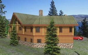 Nicola Lake Log Home Plans