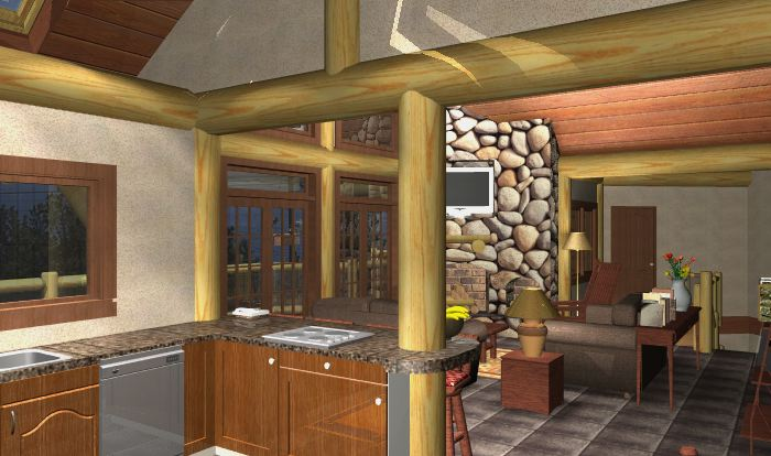 Nicola Lake Log Home Plans