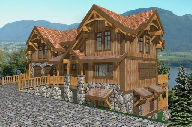 Palisades I Timber Frame Plan