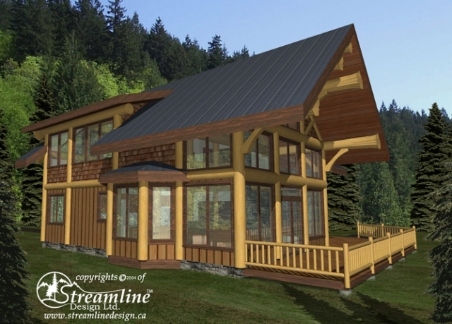 Pine Mountain Log Home Plans