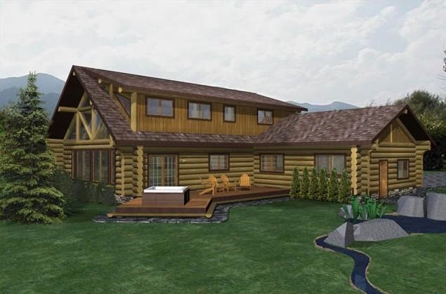 Pipestone Log Home Plans