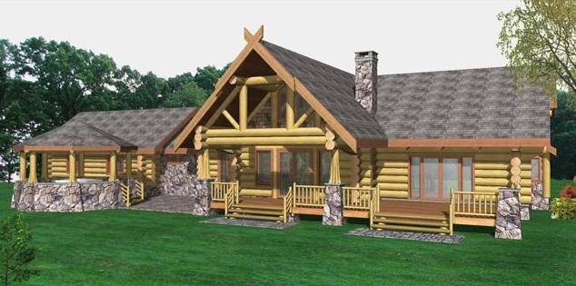 Pleasant Prairie Log Home Plans