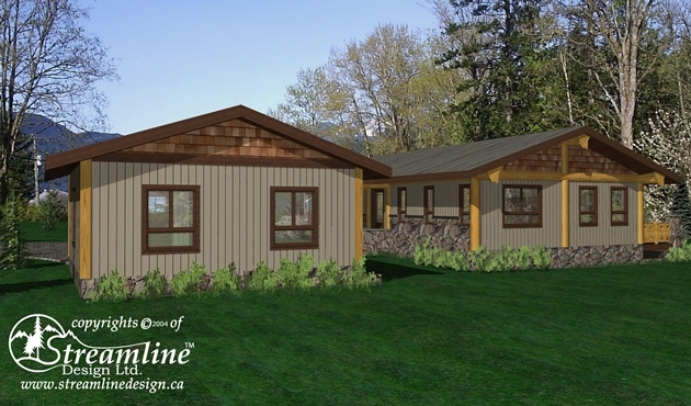 Resolute Bay Log Home Plans