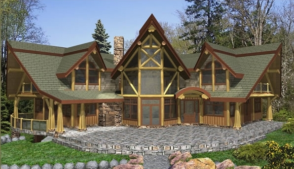 Rockwell Log Home Plans