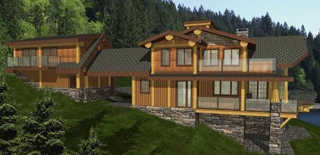 Sakinaw Ridge Log Home Plans