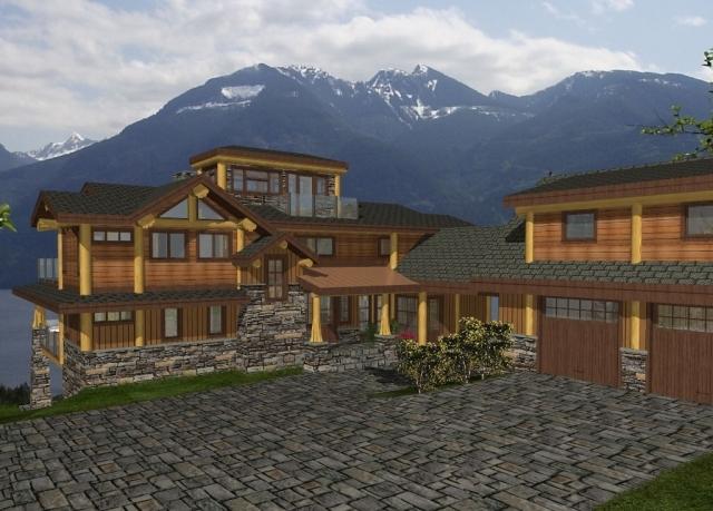 Sakinaw ridge log home plans 5946sqft streamline design for Streamline luxury suites