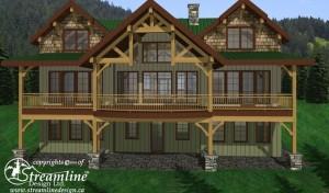 Salt Spring Island Timber Frame House Plan