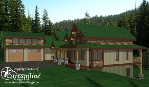 Salt Spring Island Timber Frame House Plan