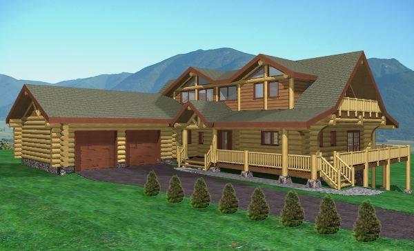 Seven Glens Log Home Plans