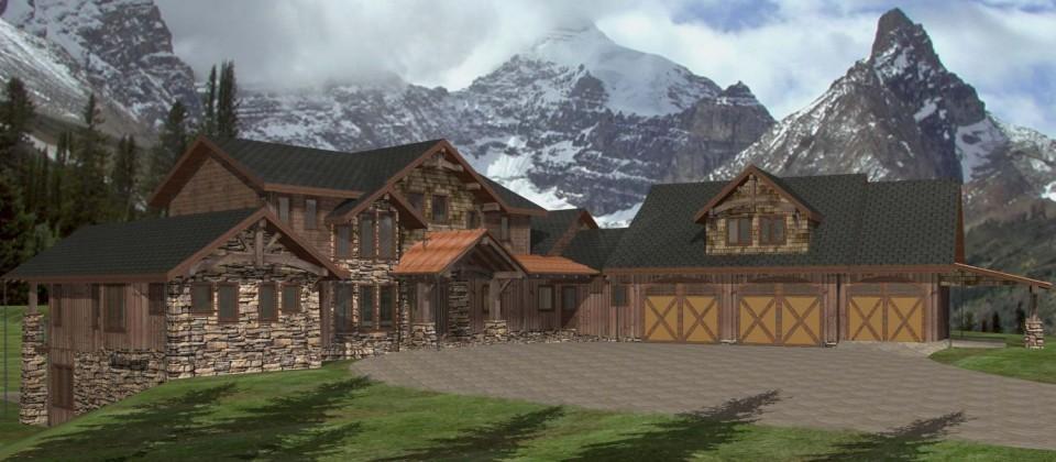 Tamaric Custom Timber Frame Plan