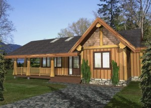 The Jefferson Log Home Plans