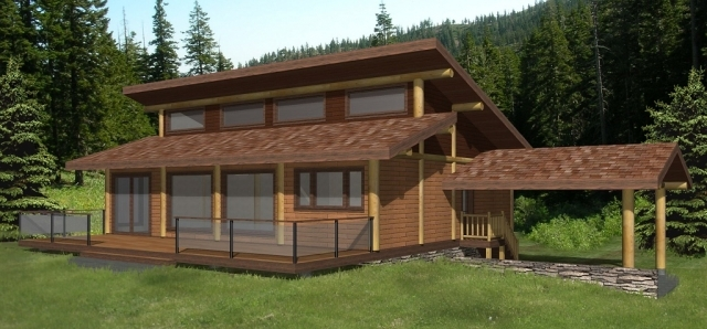 The Sunset Log Home Plans