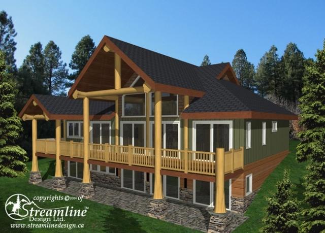 Trail Bay Log Home Plans
