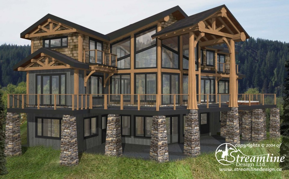 Valley Drive Custom Timber Frame Plan