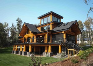 Post and Beam Log Home Alberta