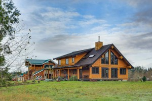 Campbell Valley Post and Beam Log Home 14 - Streamline Design