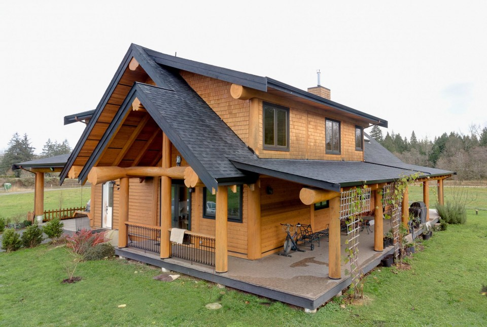 Campbell Valley Post and Beam Log Home 16 - Streamline Design