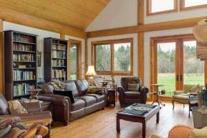 Campbell Valley Post and Beam Log Home 18 - Streamline Design