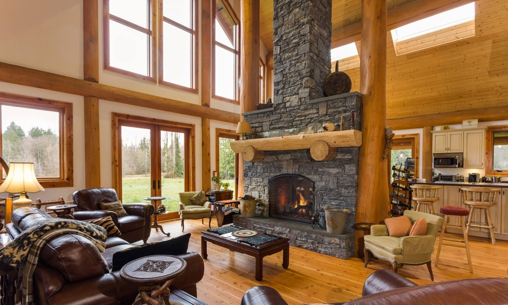 Campbell Valley Post and Beam Log Home 5 - Streamline Design