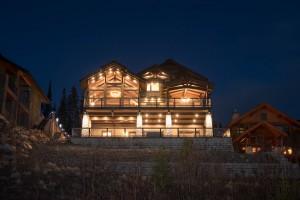 Lottinville Timber Frame Log Home 2 - Streamline Design